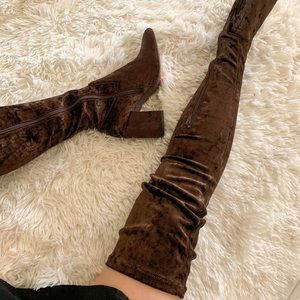 New Jeffrey Campbell brown over the knee boots